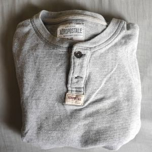 Aeropostale long sleeve shirt grey size L